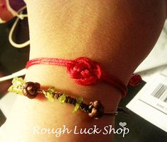 Hand Woven Josephine Bracelet Chinese Button Knot by ROUGHLUCKSHOP