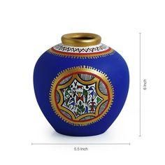 Combo Of Terracotta Handpainted Vases – ExclusiveLane Painted Bottles, Bottle Painting, Wine Bottle Crafts, Types Of Art, Beautiful Hands, Terracotta, Vases, Pots, Perfume Bottles