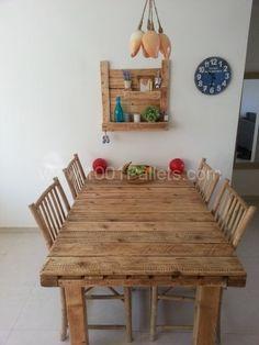 Pallet Table & Shelf