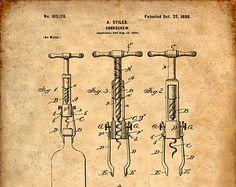 Imprimir patentes de Cork tornillo patente lámina por VisualDesign