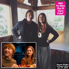 The Weasleys are back together! Rupert Grint and Bonnie Wright, also known as Ron and Ginny Weasley, reunited for 'A Celebration of Harry Potter' at the Wizarding World of Harry Potter in Orlando, Florida! Check out the pic!