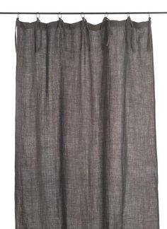 En-fil-dindienne - Rideaux en lin frangé - Gris - 150x300 cm