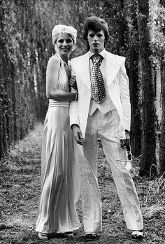 vezzipuss.tumblr.com — David & Angie Bowie, Circa 73