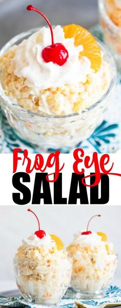 Frog Eye Salad is a a sweet, pudding-based fruit salad that can be made with convenient ingredients or homemade whipping cream, we call it a salad just as an excuse to have two desserts! Sweet, chewy, and decadent, who knew Frogs' Eyes could taste so good!