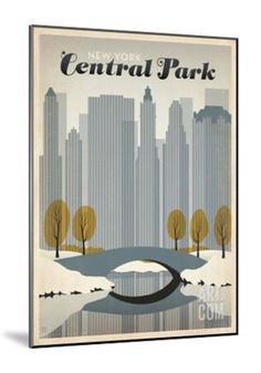 New York Central Park Stretched Canvas Print by Anderson Design Group at Art.co.uk