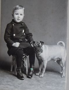 Antique Cabinet photo of boy and his dog from Syracuse NY circa 1890