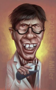 Jerry Lewis from Dean Martin & Jerry Lewis.The Nutty Professor.to his telethons. Cartoon People, Cartoon Faces, Funny Faces, Cartoon Art, Jerry Lewis, Lee Lewis, Funny Caricatures, Celebrity Caricatures, Celebrity Drawings