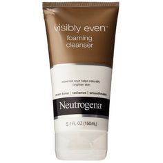 Neutrogena Visibly Even Foaming Cleanser ($5.59) ❤ liked on Polyvore featuring beauty products, skincare, face care, face cleansers, fillers, facial cleansers, skin care, exfoliating facial cleanser, exfoliating face wash and neutrogena face cleanser