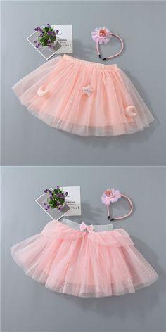 Toddler Kid Girl Star Moon Pink Tutu Skirt Tutus For Girls, Kids Girls, Pink Tutu Skirt, Girl Tutu, Tulle, Ballet Skirt, Moon, Stars, Outfits