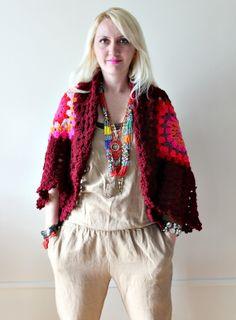 Afghan Crochet Cardigan by LoveandKnit on Etsy, $115.00