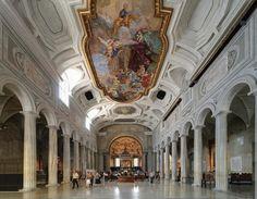 The interior of San Pietro in Vincoli, Rome, Lazio, Italy