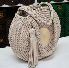 Free Crochet Bag, Crochet Tote, Crochet Handbags, Crochet Purses, Knit Crochet, Crochet Baskets, Crochet Bag Tutorials, Crochet Patterns, Crochet Shoulder Bags