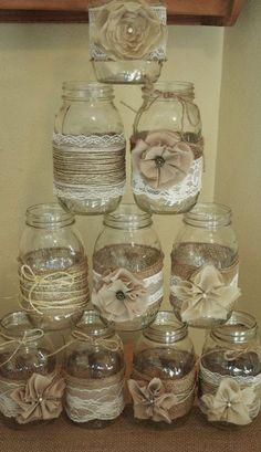 DIY Hochzeitsdekoration Bastelideen - Einmachglasdeko