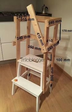 Little Kitchen Helper Step Stool Plans