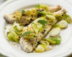 Filet de poisson blanc à la fondue de poireaux citronnée pour régime citron