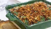 green bean casserole with crispy shallots | week 11/21 - green beans, onions, mushrooms, shallots