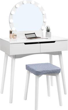 Girls Bedroom Furniture, Modern Design, Vanity, Make Up, Led, Mirror, Furniture Ideas, Home Decor, Products