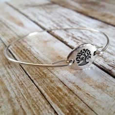 Bridesmaid gift idea - Tree Of Life Bangle Bracelet Stackable by CorinnaMaggyDesigns