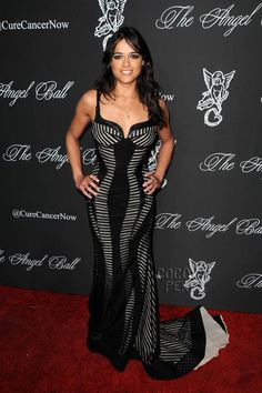 Michelle Rodriguez Has Curves For Days At The Angel Ball!