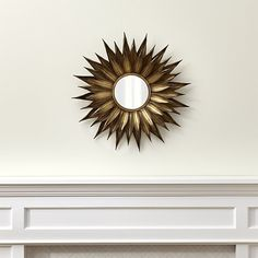 Sunflower Round Wall Mirror | Crate and Barrel
