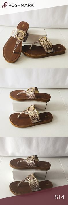 cf569b10a New Woman s sandals size 8.5 gold detail New Woman s sandals size 8.5 gold  detail Animal print