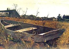 Andrew Wyeth Prints | 1963 Andrew Wyeth Large Print - Teel's Island - Vintage Reproduction