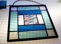 Multi-color Stained Glass Panel