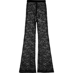 Balmain Lace flared pants (€530) ❤ liked on Polyvore featuring pants, black, high-waisted pants, lightweight pants, high-waisted trousers, high waisted pants and long pants