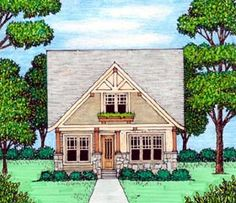 House Plan 53837 | Bungalow   Craftsman   Tudor    Plan with 2258 Sq. Ft., 4 Bedrooms, 4 Bathrooms