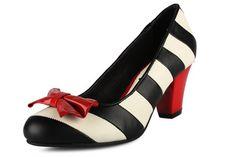 Lola Ramona : Elsie - stripes on medium heels