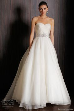 badgley mischka 2011 bridal - keeneland wedding dress