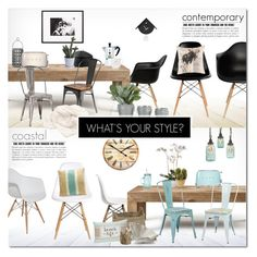 Contemporary or Coastal? by justlovedesign on Polyvore featuring interior, interiors, interior design, home, home decor, interior decorating, Flamant, Nuevo, Inmod Signature and Office Star