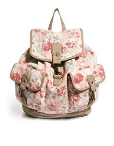 New Look Pearl Vintage Rose Backpack