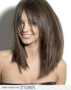 Long Razor-Cut Brunette Bob With Bangs Cool Undertones Cabello . Long razor-cut brunette bob with bangs Cool undertones Cabello long bob cut hairstyle - Bob Hairstyles Shoulder Length Layered Hair, Straight Layered Hair, Long Layered, Layered Bobs, Straight Wigs, Medium Layered, Long Angled Bobs, Straight Cut, Inverted Bob