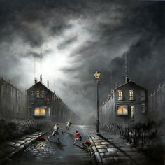 Art by Bob Barker Nostalgic Art, Cool Art Drawings, Abstract Photography, Surreal Art, Great Photos, Night Time, Illustrators, Architecture Design, Fine Art