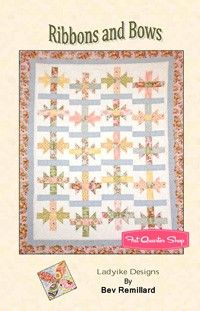 Ribbons and Bows Downloadable PDF Quilt PatternLadylike Designs