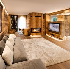 Mountain furniture of excellence Arte Rovere Antico Cabin Interior Design, Chalet Interior, Chalet Design, Interior Architecture, Small Room Bedroom, Cabin Homes, Modern House Design, Home Fashion, Living Room Designs
