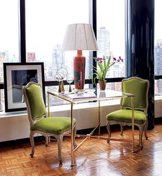 green-velvet chairs