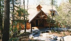 Wood And Stone Siding Rooflines And Combination Of
