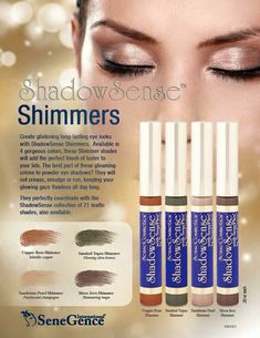 We have a range of eye shadows and shimmers that have the same 18 hour waterproof and smudge proof wear. Distributor ID# 206226 Facebook Page: Luscious Lips - Sara Locke Follow me on Instagram: @sara.r.locke Or email me at saralocke_2012@hotmail.com