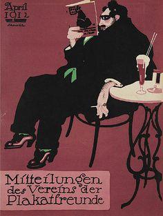 Paul Scheurich (1883-1945), 1912, News from the Association of Poster Friends (Mitteilungen des Vereins der Plakatfreunde).