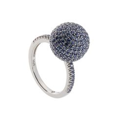 Oxette Silver 925 Ring with zircons - Available here  http://www.oxette.gr/kosmimata/daktulidia/ster.silver.ring-sphare-tanzanite-cz-613l-1/   #oxette #OXETTEring #jewellery