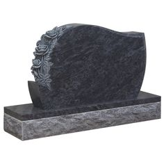 HT35 - Polished lawn headstone in Vizag Blue Premium  - Taylor Stones established Monumental Masons since 1981 has become the sought after stone mason by the Melbourne communities. #cemeterymemorials #gravememorials #stonemason #gravemonuments #monumentheadstone #headstone,