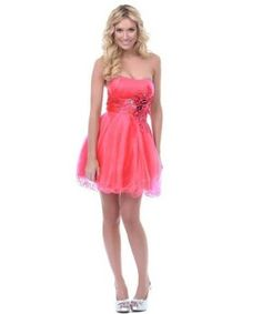 48defb34dc1 coral cute cheap under  100 dollars coral short formal prom homecoming  dresses 2014