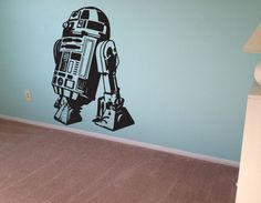 Star Wars Wall Decal R2 D2 Sticker Vinyl Decal Wall Art Room Decor Kids Boys Geek Gamer on Etsy, $9.00