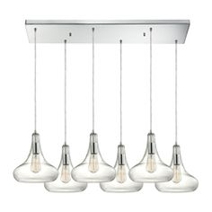 cipher 6 light pendant in oil rubbed bronze and clear glass pendants bronze finish and oil