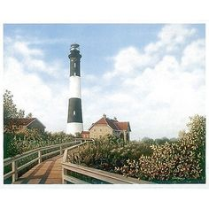 This is an original edition art print by Daniel Pollera. ''West Channel Lighthouse'' is a licensed reproduction that was printed on premium paper which captures all of the vivid and high definition co