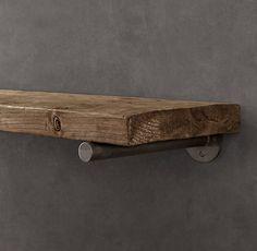 restoration hardware   reclaimed wood shelf and rod bracket