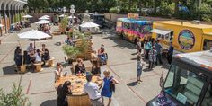 you checked out the Food Truck Festival yet ? A Summer Long Event held at the Royal BC Museum Food Trucks, Food Truck Events, Food Truck Festival, Food Court Design, Food Park, Outdoor Food, Parking Design, Beer Garden, Street Food