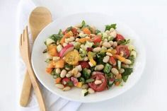 White bean & chopped veggie salad